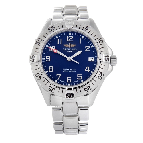 12 - BREITLING - a gentleman's Colt bracelet watch. Stainless steel case with calibrated bezel. Reference...