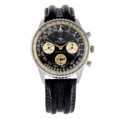 15 - BREITLING - a gentleman's Navitimer chronograph wrist watch. Stainless steel case with inner slide r...
