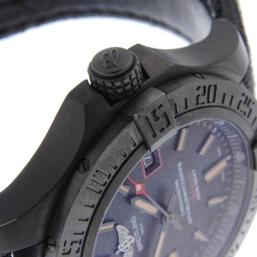 23 - BREITLING - a gentleman's Avenger Blackbird 44 wrist watch. Circa 2017. Black titanium case with cal...