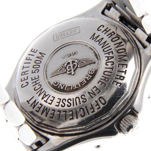 24 - BREITLING - a lady's Colt Oceane bracelet watch. Stainless steel case with calibrated bezel. Referen...