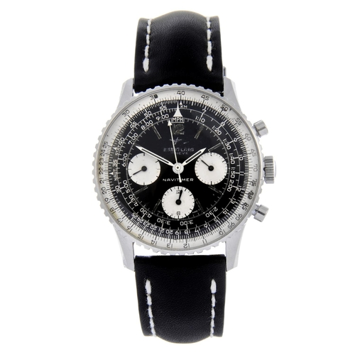 26 - BREITLING - a gentleman's Navitimer chronograph wrist watch. Stainless steel case with inner slide r...