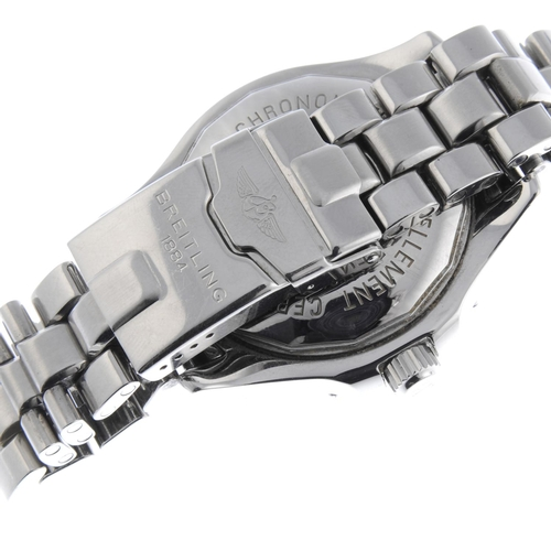 28 - BREITLING - a gentleman's Aeromarine SuperOcean bracelet watch. Stainless steel case with calibrated...