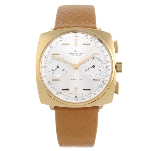 30 - BREITLING - a gentleman's Top Time chronograph wrist watch. Gold plated case with stainless steel ca...