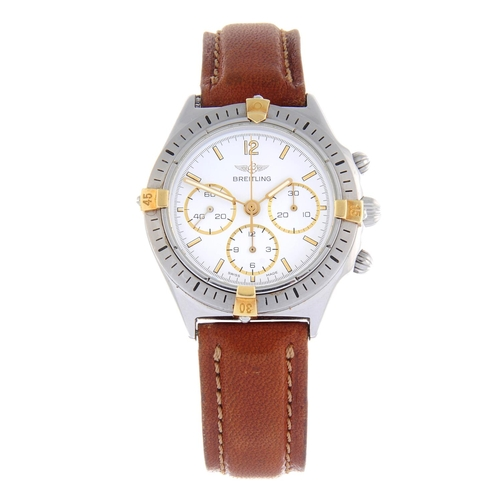 31 - BREITLING - a gentleman's Callisto chronograph wrist watch. Stainless steel case with calibrated bez...