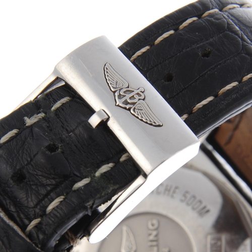 33 - CURRENT MODEL: BREITLING - a gentleman's Chronomat 44 chronograph wrist watch. Circa 2018. Stainless...