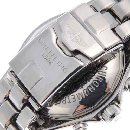 35 - BREITLING - a gentleman's Colt chronograph bracelet watch. Stainless steel case with calibrated beze...