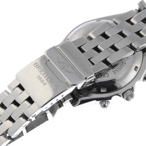 36 - BREITLING - a gentleman's Chronomat Blackbird chronograph bracelet watch. Stainless steel case with ...