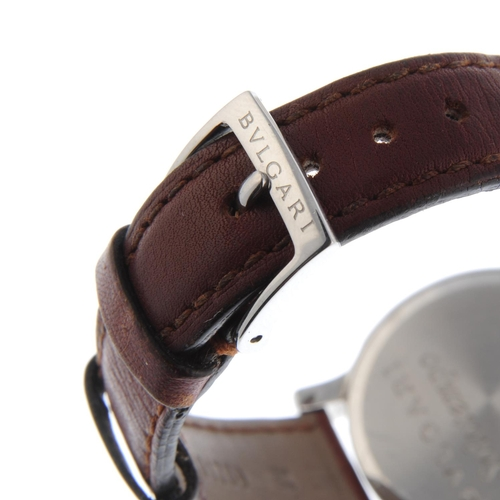 40 - BULGARI - a gentleman's Solotempo wrist watch. Stainless steel case. Reference ST35S, serial D85810....