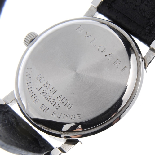 42 - BULGARI - a mid-size Bulgari wrist watch. Stainless steel case. Reference BB33SL, serial J283318. Si...