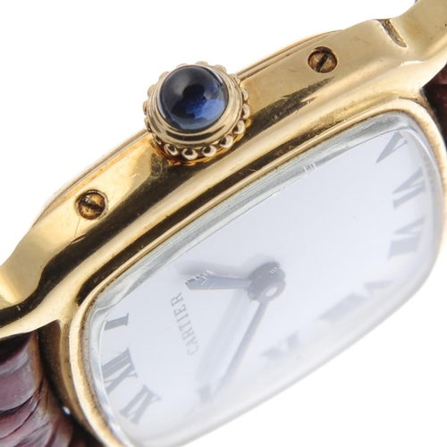 44 - CARTIER - a Chambord wrist watch. Yellow metal case, stamped 18k with poincon. Reference 7825, seria...