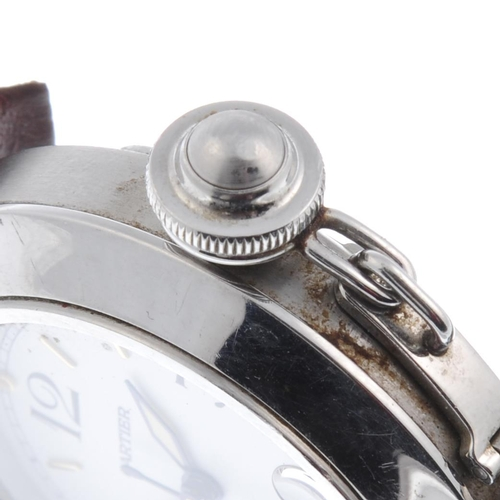 47 - CARTIER - a Pasha wrist watch. Stainless steel case. Reference 2324, serial CC448422. Signed automat...