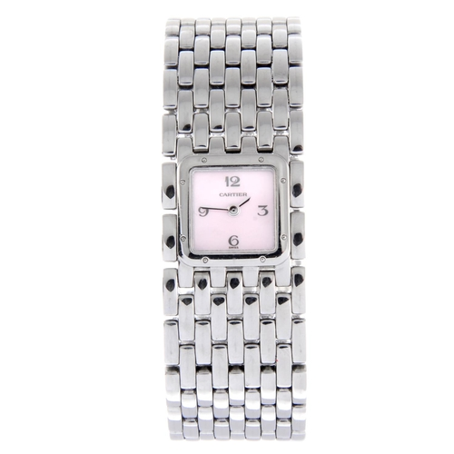 49 - CARTIER - a Panthere Ruban bracelet watch. Stainless steel case. Reference 2420, serial 46973PB. Sig...