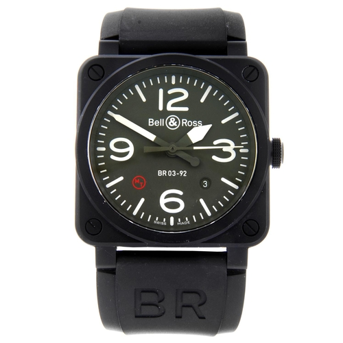 5 - BELL & ROSS - a gentleman's BR03-92 wrist watch. Ceramic case. Numbered CBL - 06483. Signed automati...