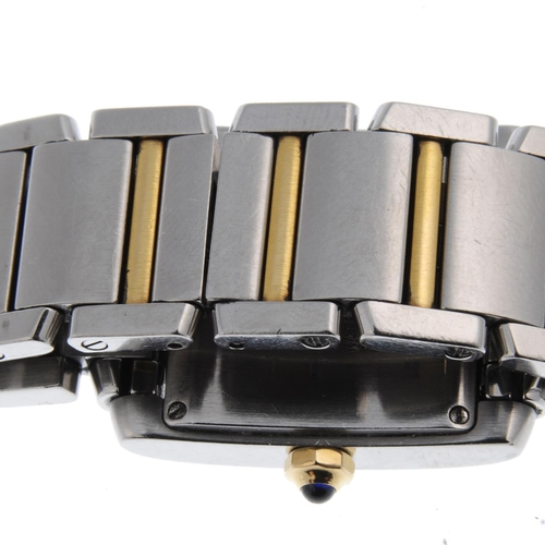 51 - CARTIER - a Tank Francaise bracelet watch. Stainless steel case. Reference 2465, serial 311302CD. Si...