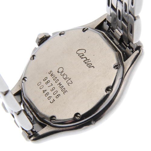 55 - CARTIER - a Cougar bracelet watch. Stainless steel case. Numbered 987906 004863. Signed quartz calib...
