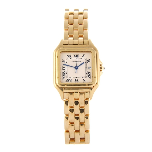 59 - CARTIER - an 18ct yellow gold Panthere  bracelet watch. Reference 1270 2, serial MG235270. Signed qu...