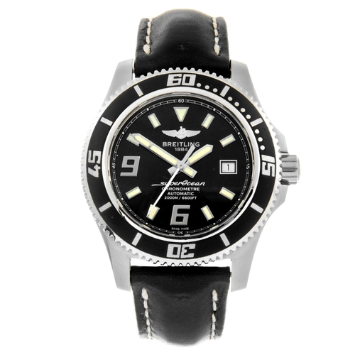 8 - BREITLING - a gentleman's SuperOcean 44 wrist watch. Circa 2011. Stainless steel case with calibrate...