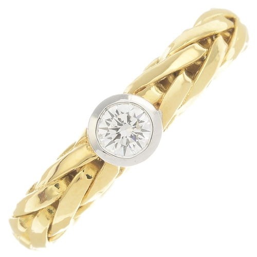 6 - An 18ct gold diamond single-stone ring.Diamond weight 0.25ct, estimated H-I colour, VS clarity.Hallm...