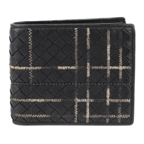 18 - BOTTEGA VENETA - an Intrecciato leather bifold wallet. Designed with maker's signature woven black l...
