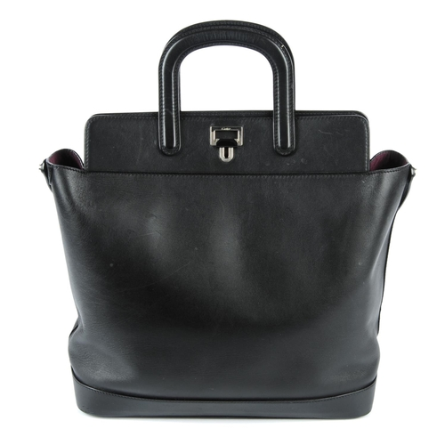 34 - CARTIER - a black Jeanne Toussaint handbag. From the Jeanne Toussaint Collection, crafted from smoot...