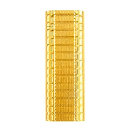 53 - CARTIER - a gold plated lighter. With engine turned case. Signed Cartier Paris 75893. Length 7cms. W...