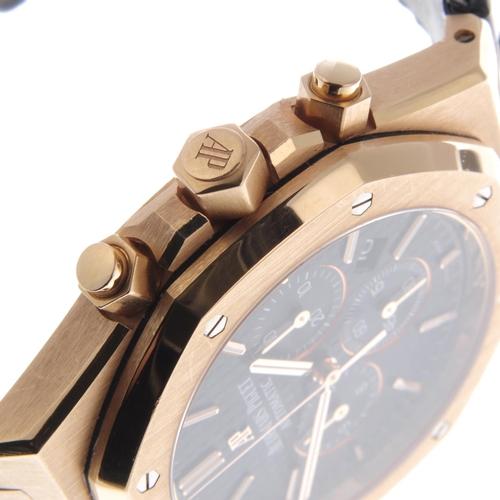 1 - AUDEMARS PIGUET - a gentleman's Royal Oak Offshore chronograph wrist watch. 18ct rose gold case. Ref...