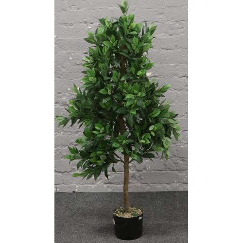 9 - A decorative bay tree, approximately 130cm tall....