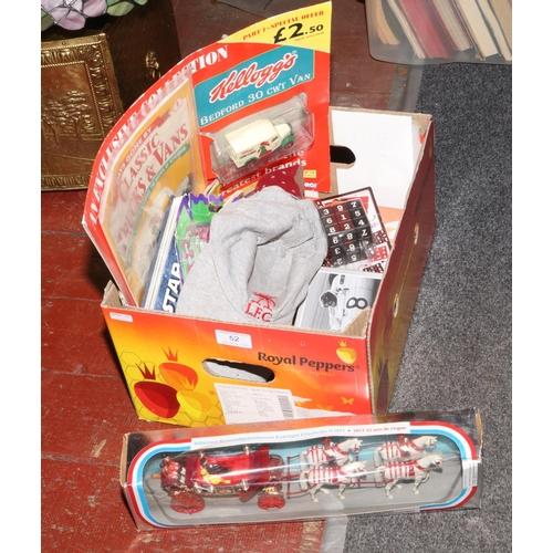 52 - A box of miscellaneous to include Disney Princess Snow White figures, Corgi The Queens Silver Jubile...