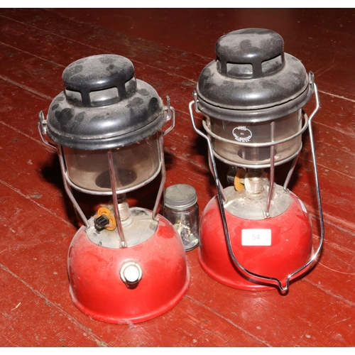 54 - A pair of Tilly storm lanterns....