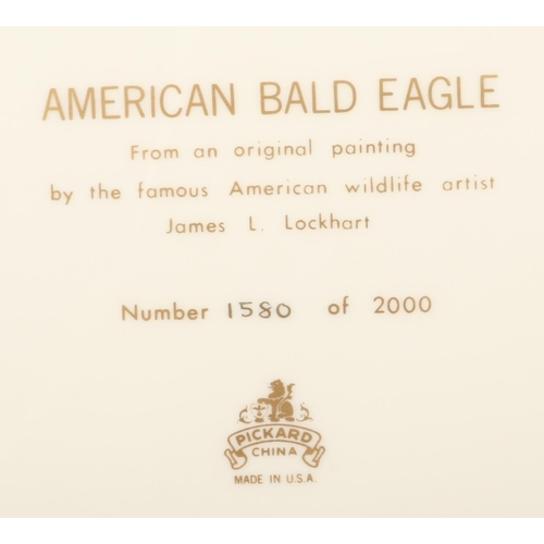 52 - A boxed American Pickard China limited edition charger. Titled American Bald Eagle after and origina...