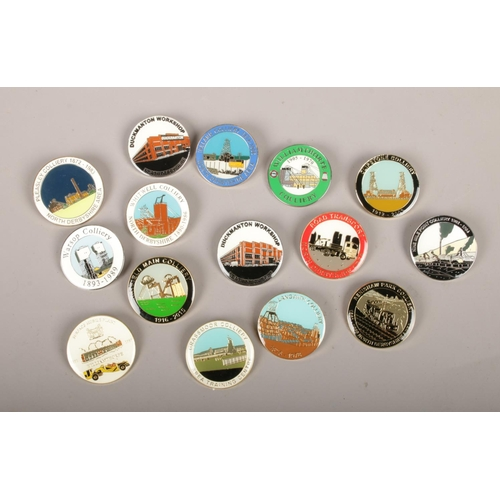 22 - A collection of enamel colliery badges, mainly closure examples, to include Hatfield, Whitwell, Clip...