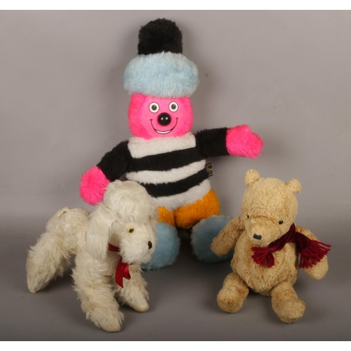 28 - A Wendy Boston Poodle soft toy to include Bertie Bassett & Gund Bear....