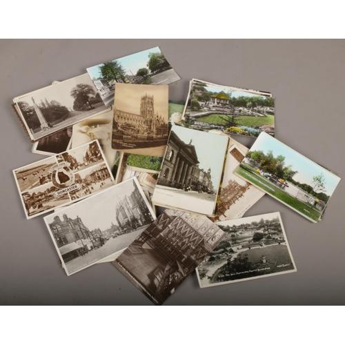 36 - A collection of vintage postcards, Doncaster,...