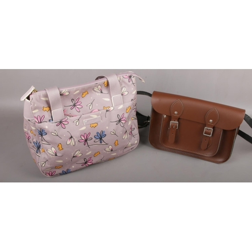 22 - A Radley handbag along with a leather satchel by The Leather Satchel Co....
