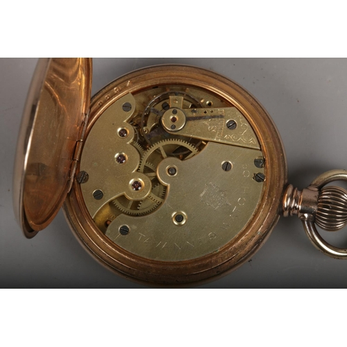 379 - A yellow metal pocket watch, marked Tanvannes to the movement....