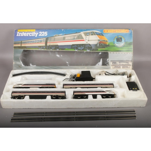 482 - A boxed Hornby Intercity 225 railway electric train set....