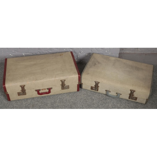 483 - Two vintage suitcases....