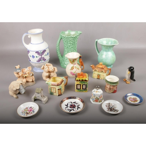 42 - A collection of ceramics, Aynsley, Sylvac, Beswick examples...