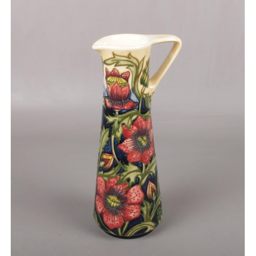 442 - A contemporary Moorcroft pottery jug, 'Pheasants Eye' by Shirley Hayes, impressed factory marks and ...
