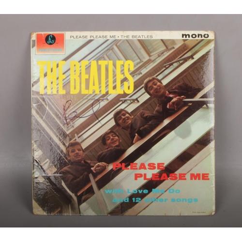 459 - The Beatles Please Please Me LP record autographed by Paul McCartney....