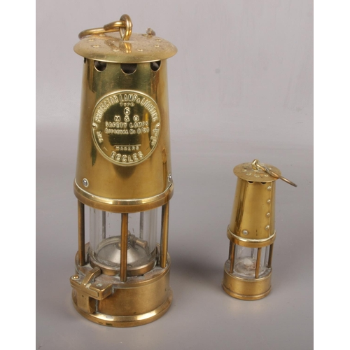 100 - Two Protector Lamp & Lighting Co Ltd Safety Lamps, type 6 examples...