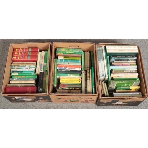 232 - Three boxes of cricket collectors books, The Wisden book of test cricket volume 3, Lords 1787-19476 ...
