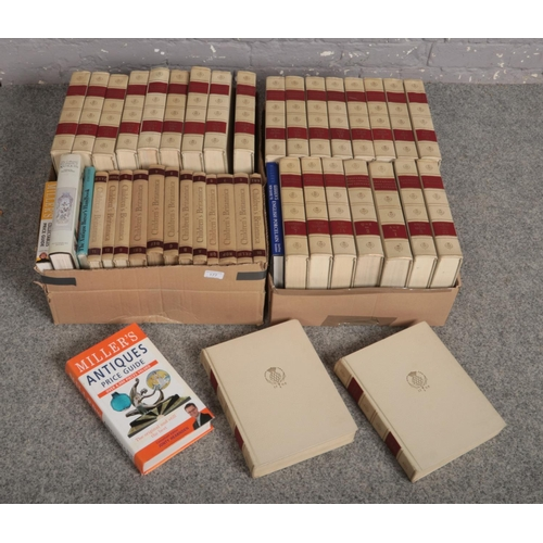 247 - Three boxes of books to include mostly encyclopaedias and dictionary's etc....