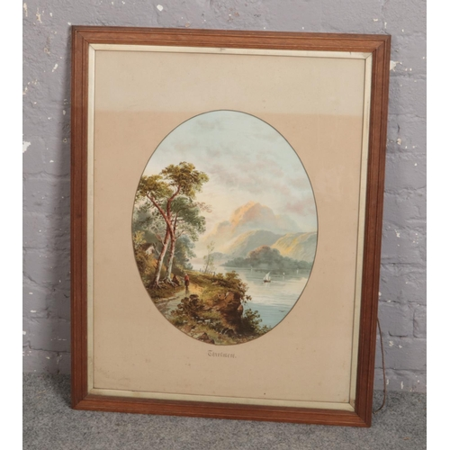311 - A framed oil on board, 'Thirlmere' rural scene...