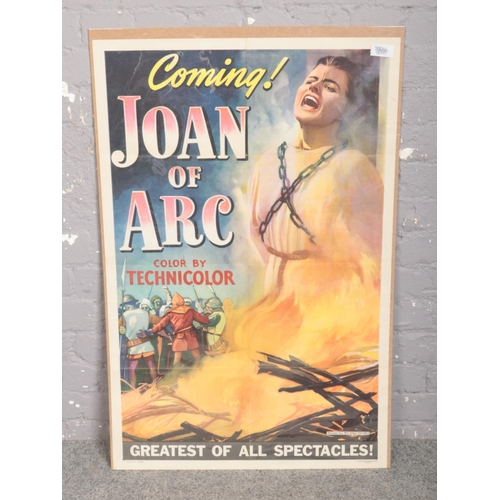 340 - An original film advertising poster for Joan of Arc....