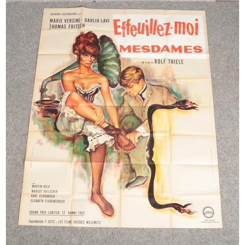 343 - A large French film advertising poster for Effeuillez-Moi Mesdames. (160cm x 120cm)....