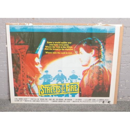 346 - A quad film advertising poster for Streets of Fire....