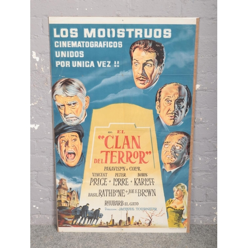 351 - An Argentinian advertising film poster for The Comedy of Terrors. (110cm x 68cm)....