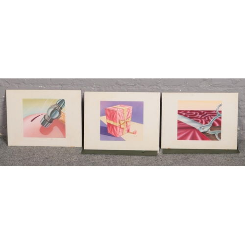 531 - Three commercial artists portfolio prints. Advertising for Chapmans....