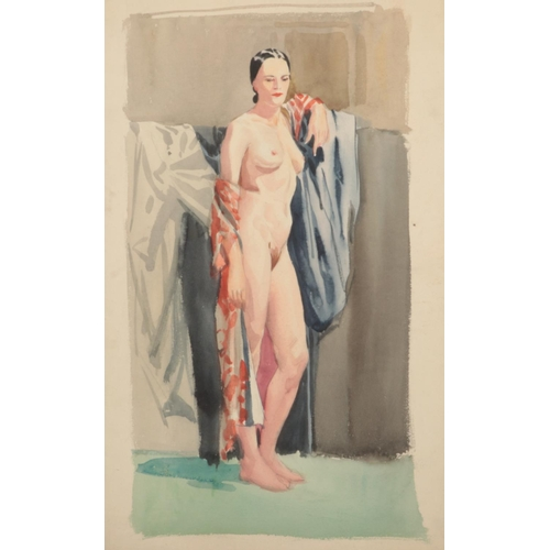 Harry Arthur Riley R.I. (1895-1966), a watercolour study of a nude female (53cm x 33cm). (Postage available on this lot, £18+VAT, discounts for multiple purchased lots.)